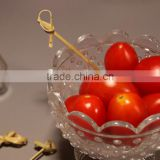2016 Excellent Fashion Good quality Bamboo fruit pick skewer stick with Knotted For wedding use