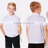 Custom School Uniforms Wholesale Unisex 100 Cotton Fabric Short Sleeve Polo T Shirt White Plain