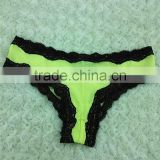 2017 sexy hot selling transparent panty with lace ladies panty brand names