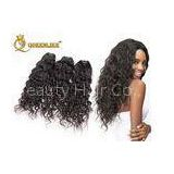 Professional Natural Black Hair Extensions Cambodian Virgin Hair Can Dye / Perm
