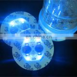 light up glow sticker for bottle blinking led cup pads