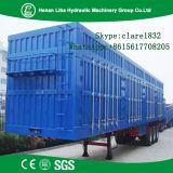 Strong Box Utility Trailer With Corrugated Steel Plate Or Flat Type Steel Plate Box Shell Box Trailer