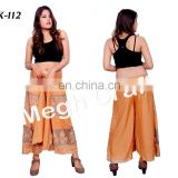 Women's Harem Ethnic Trouser Pants- Indo Western Palazzo Pant - Indian Rayon Pants Trouser
