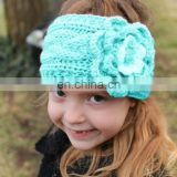 Winter new fashion knitted camellia twist braided baby warm hairband children kids hair accessories