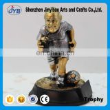 Creative design plastic senior football match trophy