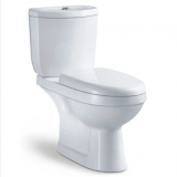 Wholesale chaozhou ceramic white competitive p trap two piece dual flushing sanitary ware toilet china supplier for sale