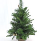 Artificial christmas pot tree