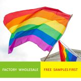 Factory Wholesale Stock Cheap 3*5ft Gay Pride LBGT Rainbow Flag