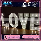 ACS lovely colorful acrylic led giant love letter