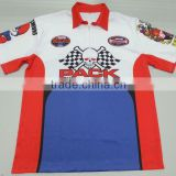 sublimated custom crew racing shirt