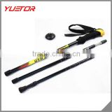 30% carbon material fashion adjustable anti shock system climbing stick trekking pole walking stick
