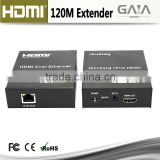 120M HDMI extender over single 120m cat5e cat6 cable with IR 1080P over TCP IP hdmi extender switches