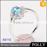 luxury 18k women engagement wedding natural blue sapphire rings