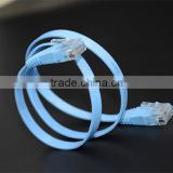 Flat Ultra Flexiable Network Cable Cat6a UTP Ethernet Patch Cord RJ45 Plug Golden High Quality