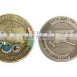 Metal military coin with custom design