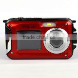 DC-16 WINAIT OEM Water proof 4k digital camera dual display 2.7'' TFT and 1.8'' TFT dual panel DC-16