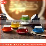 12pcs cup and saucer double glaze stoneware ceramic italy espresso coffee cup and saucer