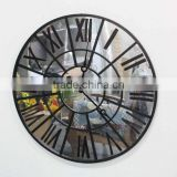 description for waste material art craft round vintage metal digital wall clock