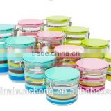 2015 Best Selling plastic colorful candy box airtight canister seal pot supplied in China