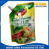 Plastic sauce bags ketchup packaging foil roll film/ ketchup spout bag tomato ketchup in bag
