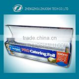 food packaging aluminium foil in color box aluminium kitchen foil in color box for catering food packing and wrapping foil coil