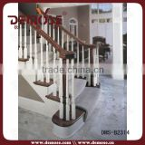 indoor wood and iron stairs railing designs