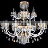 Home Decor Bohemian Crystal Glass Chandelier Hanging Pendant Lamp Light Lighting CZ3003/12+6+3