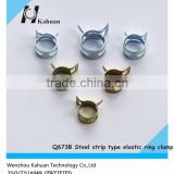 China manufacturer Q673B steel strip type elastic pipe hose clamp zinc plated