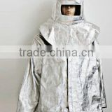 Aluminum foil fire resistant proximity suit for firefighter