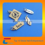 Best selling products custom engraved metal jewelry logo tags                                                                         Quality Choice