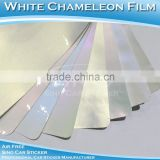 1.52x20M 5x65FT Removable Glossy Chameleon Pearl White Vehicle Body Wrapping Vinyl Stickers