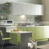 wholesale cheap price china factory high gloss blue lacquer kitchen cabinet