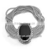 2014 wholesale multi-chain quality fashion bracelet stainless steel fashion magnetic bracelet charm MLCMB037