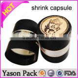 Yason pvc heat shrink cap seal for wine bottle 22mm new plastic caps and spouts pvc heat shrink labels for bottle cap