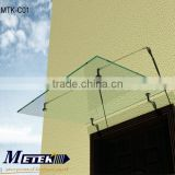 Glass Entrance Awning Canopy