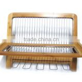 Folding Bamboo Dish Rack Dish Drying Holder Kitchen Sink Organizer