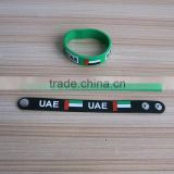 soft rubber UAE flag color wristband wirst band