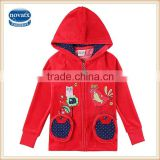 2-6y (F5998) nova kids 2015 wholesale hoodies coats applique baby girl hoody fashion kids winter clothes
