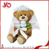 China factory direct sale custom bride and groom plush teddy bear