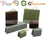 Factory made wholesale unique design jewelry packaging storage wrap box with rope handle