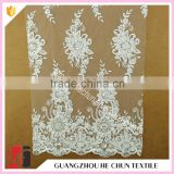 HC-5741-1 Hechun Hot Sale Bling Sequin Sunflower Plain Bridal Lace Fabric for Bridesmaid Dresses
