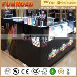 Oem order profession manufacture plywood baking paint watch display kiosk for sale