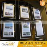 LED Double Sided Ceiling Hanging Advertising Acrylic Poster frame Light Box For Window Display
