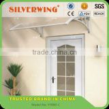 Modern transparent awning small window awning parts for plastic door canopy awning