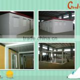 Combined container house project----5 sandwich panel container houses connected together! (73m2)