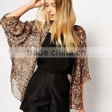 wholesale plus size waffle hotel spa kimono bath robes /women ponchos dress in chiffon fabric