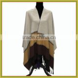 new apparel fashion women winter knitted poncho pattern thick poncho