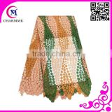 Multi color peach/green/brown CCL-0097 fashion newest african wedding lace