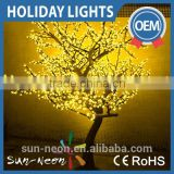 2016 Best Selling Colorful Led Artificial Cherry Tree Light With Metal Trunk Super Simulation Lighting Landscape For Decoration                                                                         Quality Choice