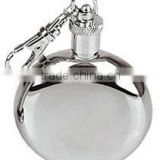 304 3oz Round hip flask stainless steel